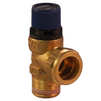 """Ariston - 6 Bar 3/4"""" MBSP x 22mm Pressure Relief Valve (406938)"""