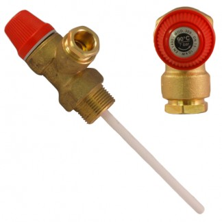 "7 Bar 1/2"" Pressure & Temperature Relief Valve"