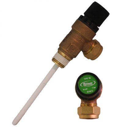 Albion - 15mm Pressure & Temperature Relief Valve 7 Bar