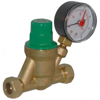 Copperform - Adjustable Pressure Reducing Valve with Gauge VALVEPRESSRED535