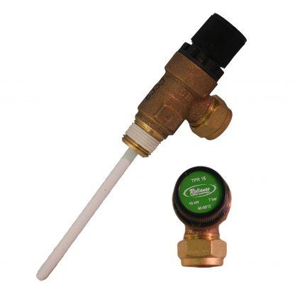 """GAH - 7 Bar 1/2"""" Pressure & Temperature Relief Valve TPRV"""