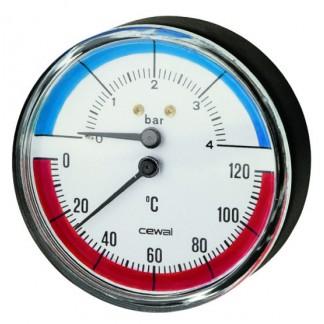 Telford Cylinders - Pressure & Temperature Gauge
