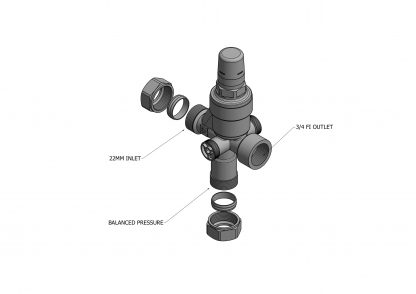 Heatrae Sadia - Megaflo 3 Bar Pressure Reducing 3 Port Valve 95605817