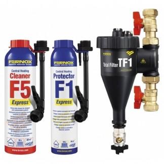 Fernox - TF1 Total Magnetic Filter 22mm Installer Pack & Chemicals F5 F1 Express