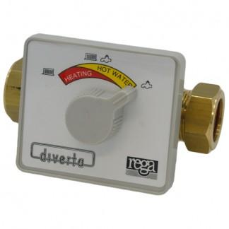 Rega Diverta 3 Port Manual Selector Valve 22Mm Three Way Diverter Control