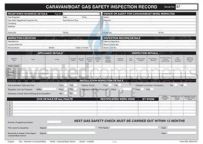 Regin - Caravan Gas Inspection Pad REGP47
