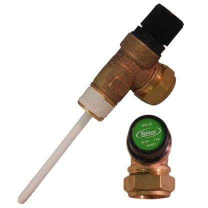 Santon - 7 Bar 22mm Pressure & Temperature Relief Valve S6223