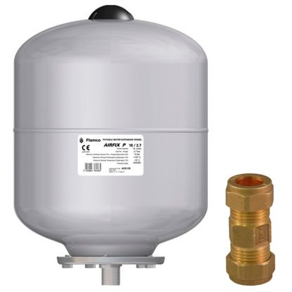 Flamco - 2 Litre Expansion Vessel with Check Valve Kit