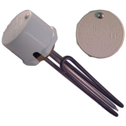 "Heatrae Sadia - Megaflo 3kw Immersion Heater 11"" 95606920 (With Thermostat)"