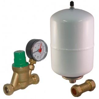 Ariston & Heatrae Sadia - Expansion Vessel, Check Valve & Pressure Reducing Kit A B