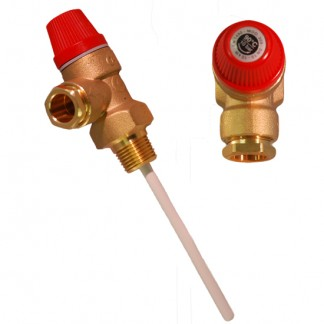 OSO - 10 Bar 15mm Temperature Pressure Relief Valve 550803