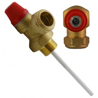 "Altecnic - 7 Bar 3/4"" 90°C Pressure and Temperature Relief Valve"