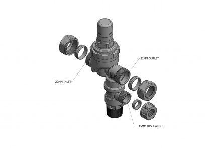 Santon - Cold Water Combination Valve 95605897