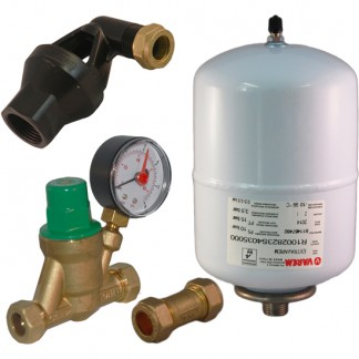 Hyco - Expansion Vessel & Check, Pressure Reducing Valve Kit A B C