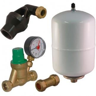 Ariston & Heatrae Sadia - Expansion Vessel, Check & Pressure Reducing Kit A B C