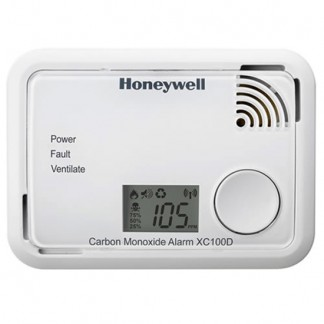 Honeywell - XC100D Digital Carbon Monoxide Alarm Detector 10 Year Guarantee