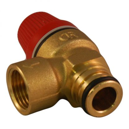"Caleffi - 6 Bar Pressure Relief Valve 1/2"" Push Fit O-Ring 312007CST"