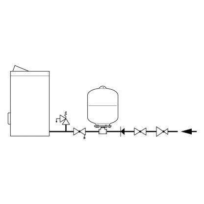 Flamco - Flexcon Potable Expansion Vessel 24 Litre FCAF P24 10B