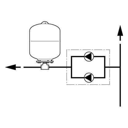 Flamco - Flexcon Potable Expansion Vessel 8 Litre FCAF P08 10B