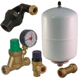 Ariston & Heatrae Sadia - Expansion Vessel, Check, Pressure Reducing, Relief Valve Kit A B C D