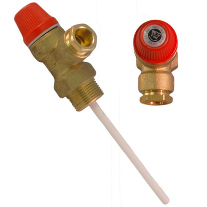 "Altecnic - Caleffi 4 Bar 3/4"" x 15mm 90°C Pressure & Temperature Relief Valve"