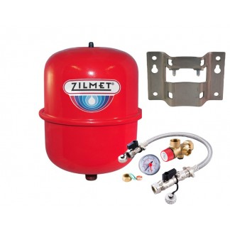 Zilmet - 8 Litre Red Heating Expansion Vessel & Sealed System Kit Z1-301008
