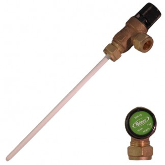 Reliance - 7 Bar TPR15 15mm x 15mm Pressure & Temperature Relief Valve 90-95°C 200mm Probe