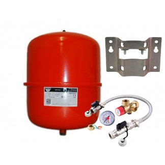 Zilmet - 25 Litre Red Heating Expansion Vessel & Sealed System Kit Z1-301024