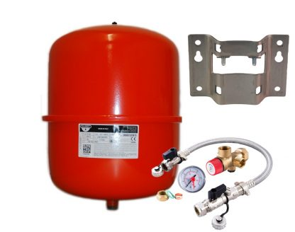 Zilmet - 25 Litre Red Heating Expansion Vessel & Sealed System Kit Z1-301024