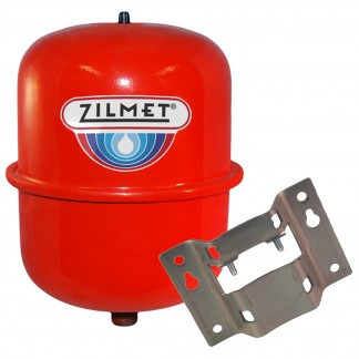 Zilmet - 8 Litre Red Heating Expansion Vessel & Bracket Z1-301008