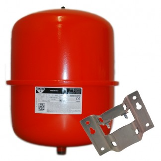 Zilmet - 25 Litre Red Heating Expansion Vessel & Bracket Z1-301024