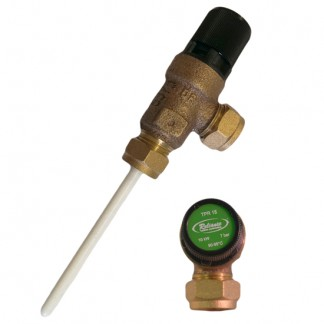Reliance - 7 Bar TPR15 15mm CMP x 15mm CMP Temperature & Pressure Relief Valve 90-95°C