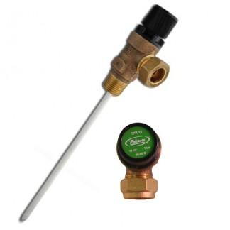 "Reliance - 7 Bar 1/2"" MBSP x 15mm & Pressure & Temperature Relief Valve 200mm Probe"