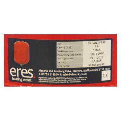 Altecnic - ERES 8 Litre Heating Expansion Vessel ER-08LTVESS