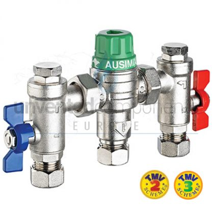 Reliance - Ausimix 22mm Compact 4 in 1 Thermostatic Mixing Valve HEAT110785
