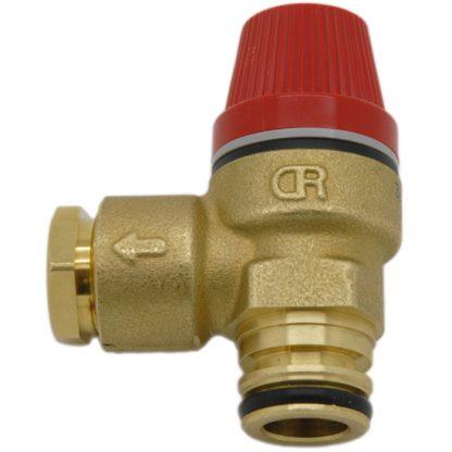 "Caleffi - 3 Bar Pressure Relief Valve 1/2"" Push Fit O-Ring 312404CST"