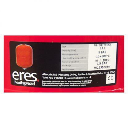 Altecnic - ERES 18 Litre Heating Expansion Vessel ER-18LTVESS