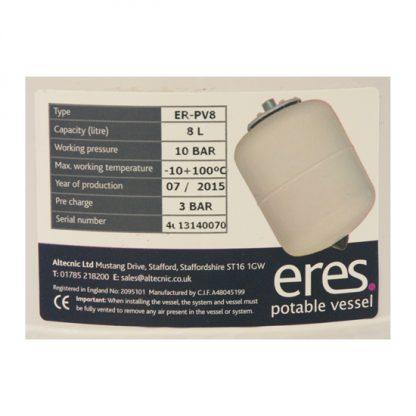 Altecnic - ERES 8 Litre Potable Expansion Vessel ER-PV8