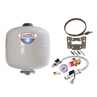 Zilmet - 12 Litre Potable Expansion Vessel & Sealed System Kit 11H0001202