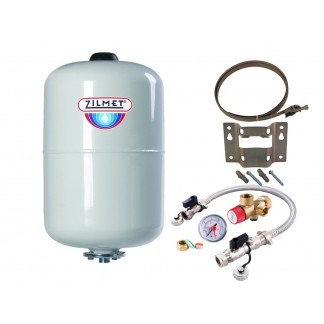 Zilmet - 24 Litre Potable Expansion Vessel & Sealed System Kit 11H0002402