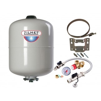 Zilmet - 8 Litre Potable Expansion Vessel & Sealed System Kit 11H0000803