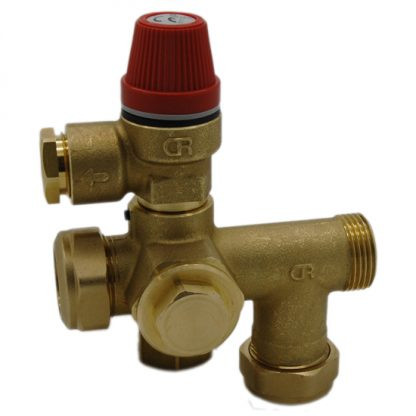 Altecnic - Caleffi 22mm Manifold 300015 and 312 6 Bar Pushfit SRV 312469
