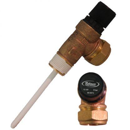 Reliance - 6 Bar TPR22 Pressure and Temperature Relief Valve 90-95°C
