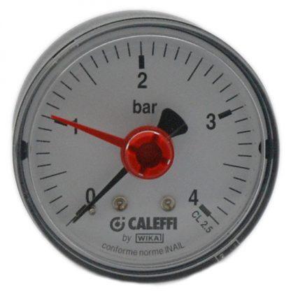 """Caleffi - 0-4 Bar Pressure Gauge Back Connection 1/4"""" 557204"""