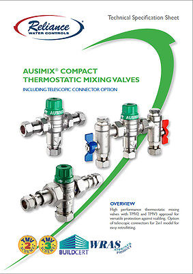 Reliance - Ausimix 22mm Compact 2 in 1 Thermostatic Mixing Valve HEAT110755