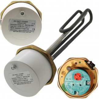 "Cotherm - 1 3/4"" 3kW Immersion Heater 11"" for Unvented Cylinders"