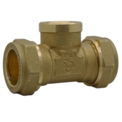 """Intatec - 22mm Compression to 1/2"""" Female BSP Tee"""