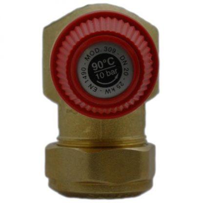 Altecnic - Caleffi 10 Bar 22mm Pressure Temperature Relief Valve 200mm Probe 309505CST