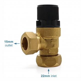 Heatrae Sadia - 8 Bar Offset Nut Metal Expansion Pressure Relief Valve 95607028