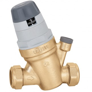 Caleffi 535022 Pressure reducing valve with self-contained replaceable cartridge 22mm